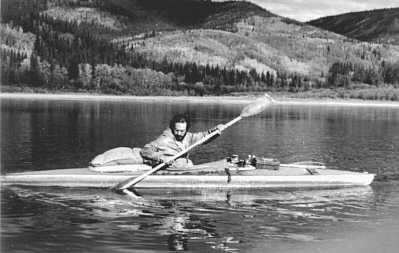 John Lockwod of Pygmy Boats in his Clepper 1970