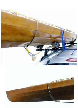 tie yah boat security system on a car