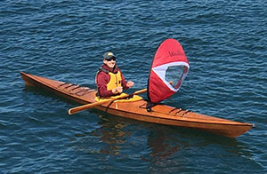 wind paddle kayak sail