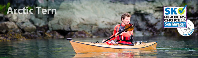 Pygmy Artic Tern winner of the sea kayaker magazines Readers Choice Award for Best Kayak Kit