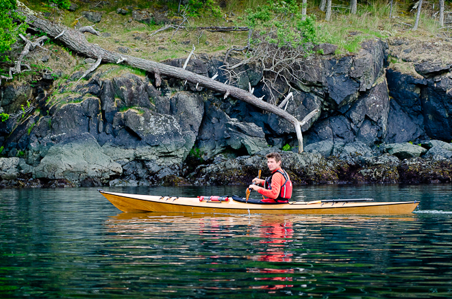 arctic tern sea kayak with a hard chine
