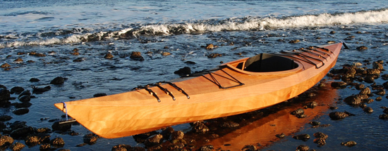 beautiful wooden rec kayak
