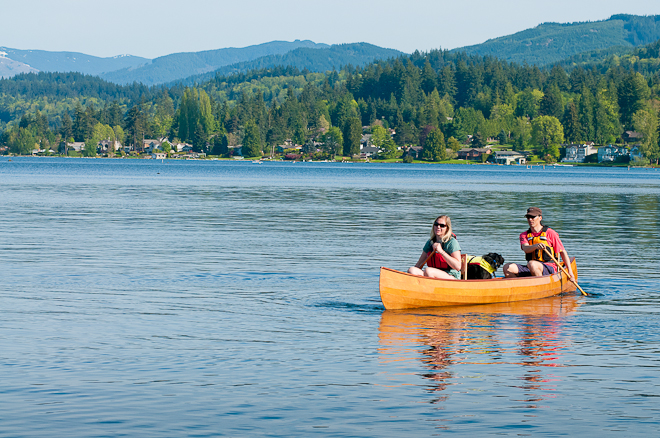 canoests on Lake Whatcom
