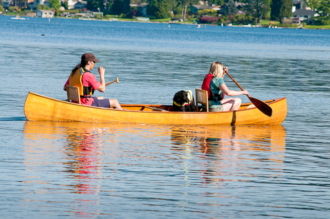Wilderness Tripper Canoe and family