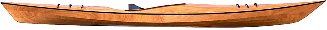 Pinguino recreational wood sea kayak