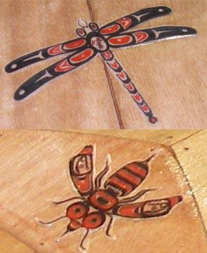 designs on wooden kayak