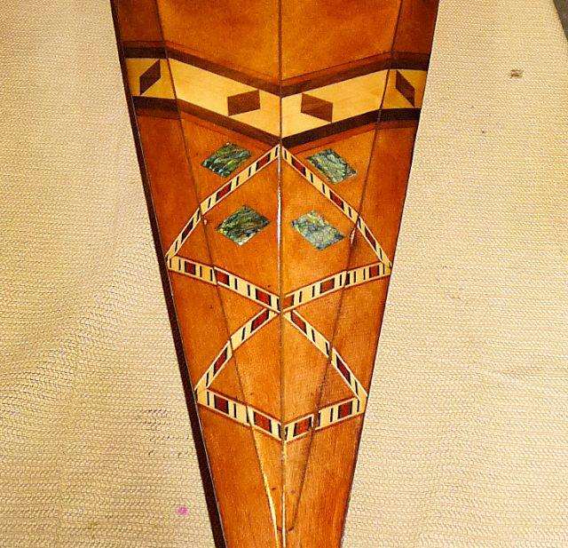 wooden kayak inlay