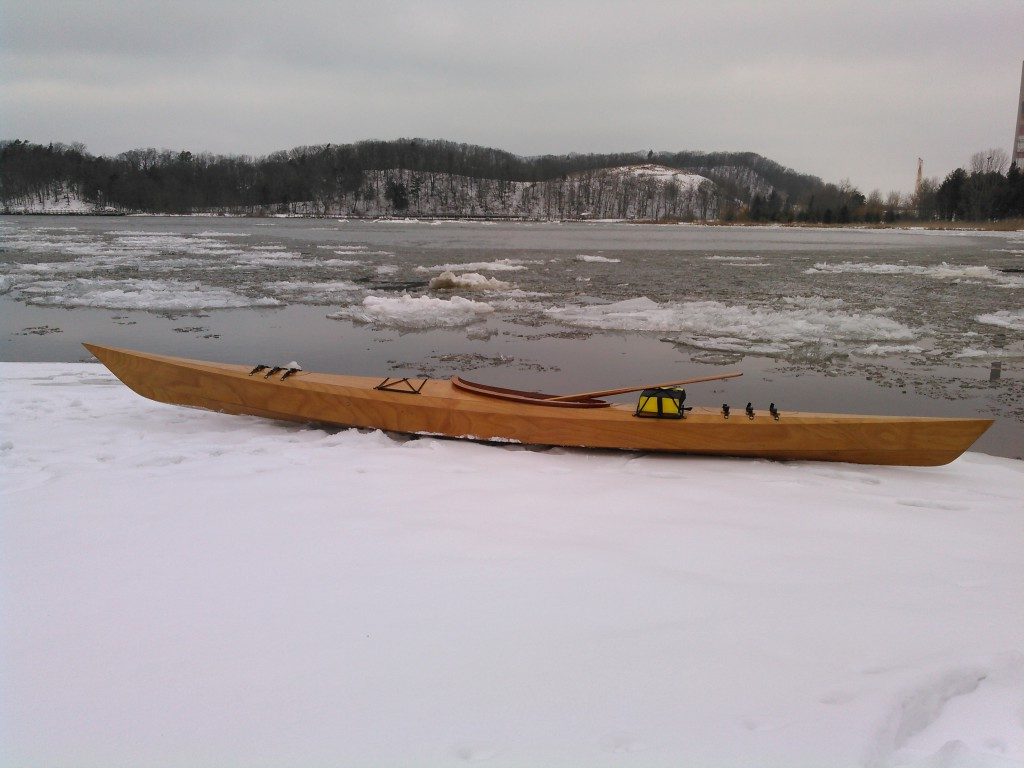 John's Arctic Tern 17 ready for a winter paddle.