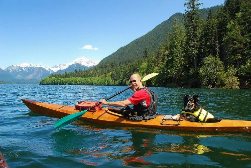 """""""Riva and I had a great day on Baker Lake, Washington in my Arctic Tern 17."""""""