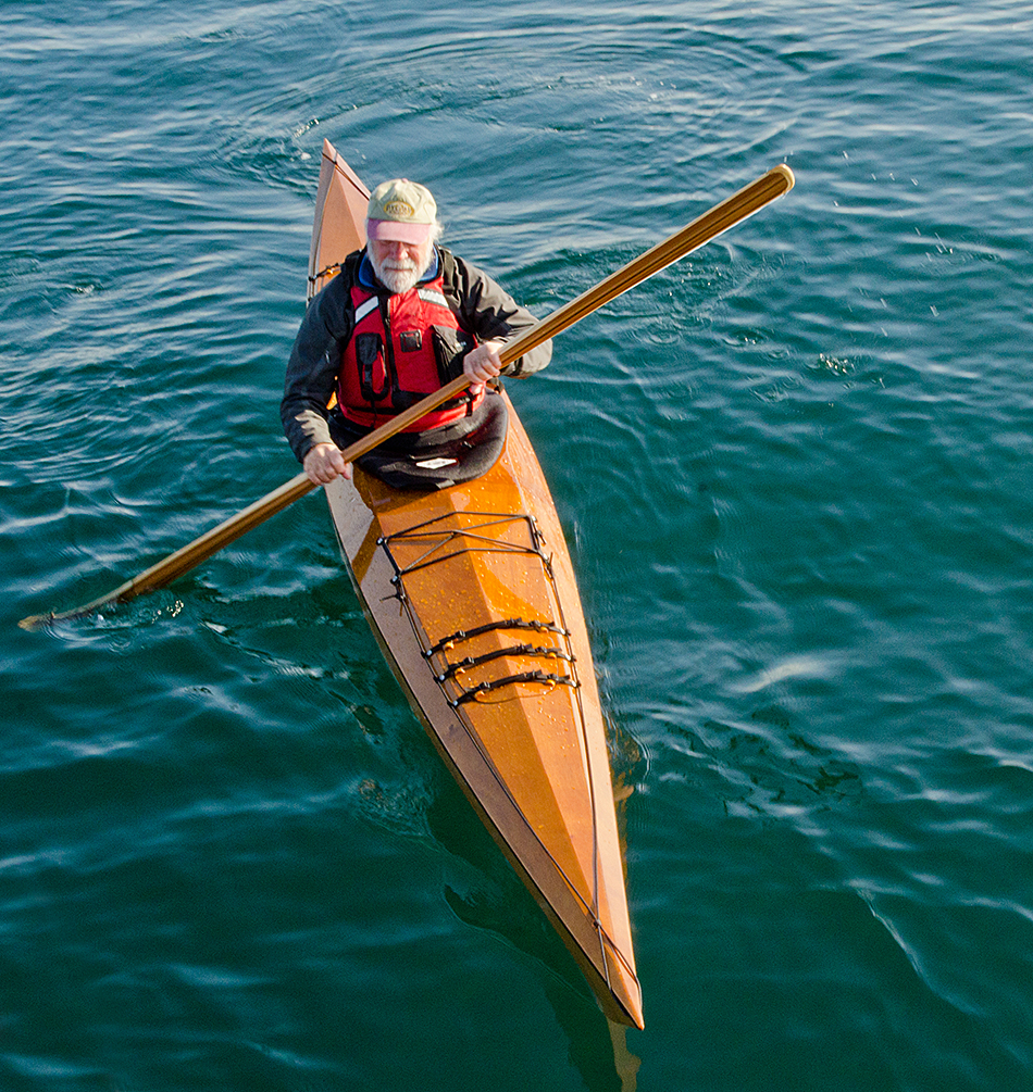 John Lockwood paddling with a Northpoint Paddle.