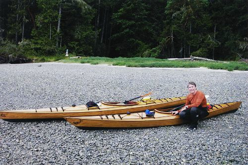 Heather with the Coho and Arctic Tern 14 on Hope Island, Washington