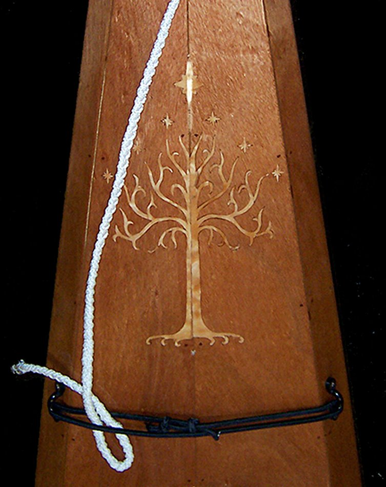 The white tree from Minas Tirith of Lord of the Rings inlaid.