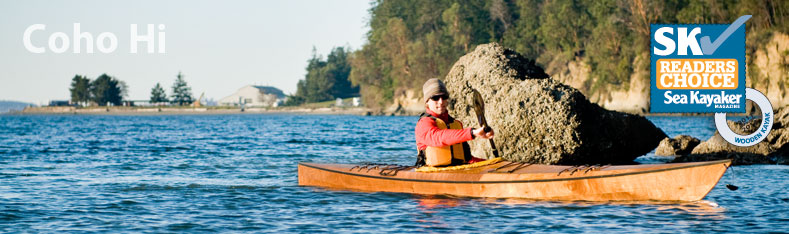 Coho Hi sea kayak for taller paddlers