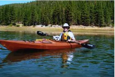 "Al says, ""Tipper fits in the Pinguino perfect.  He really enjoys kayaking."""
