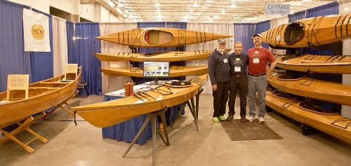 John Lockwood, Dan Jones & Dave Paskawych - Dave and Dan drove up with three boats all the way from Marietta, Ohio. Dan has built 11 Pygmy boats!